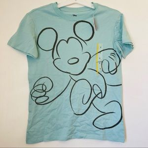 Disney Womens Mickey Mouse T Shirt Size S Blue NWT